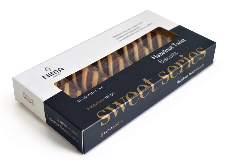 hazelnut twist biscuits in a box