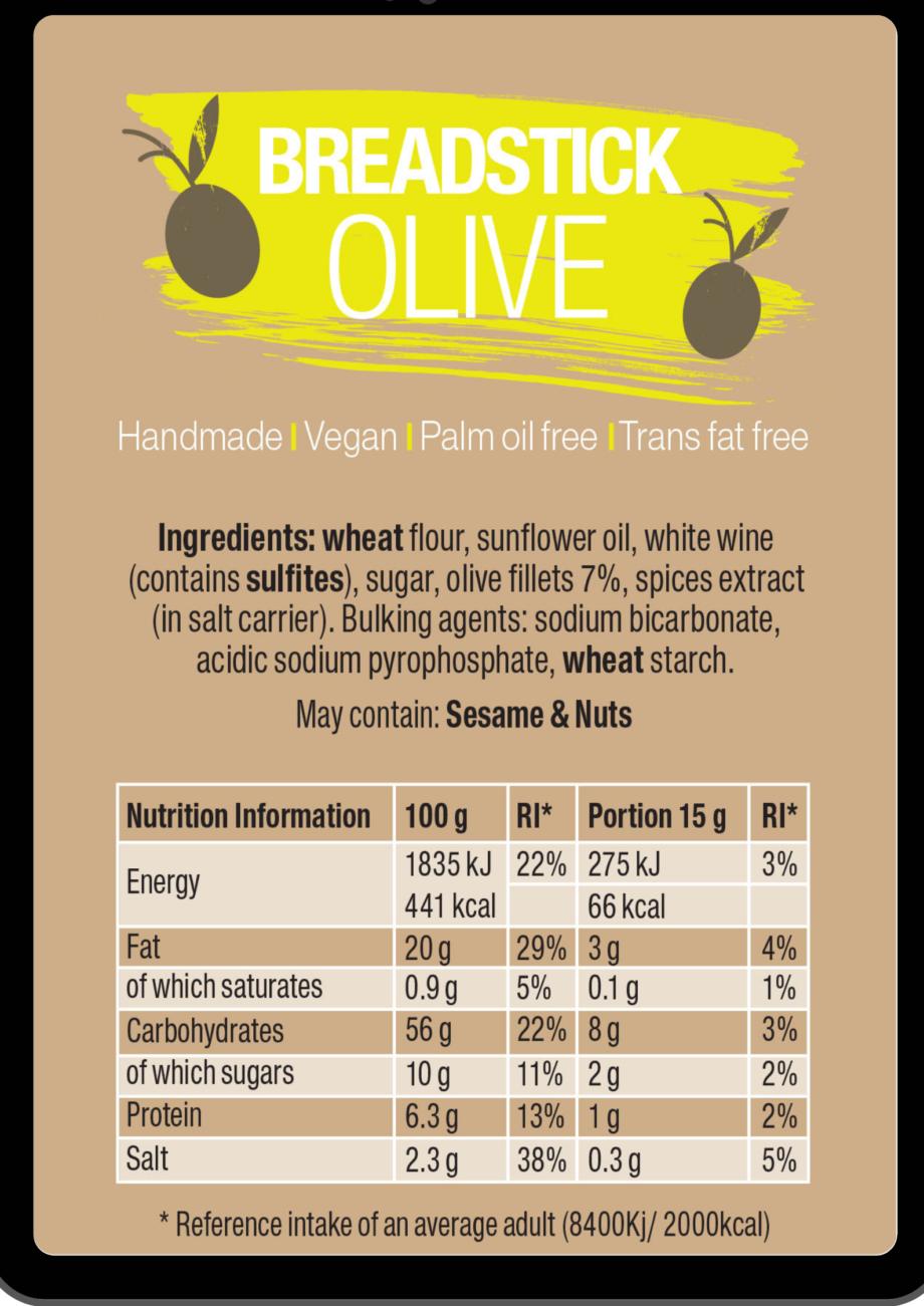 olive breadsticks ingredients