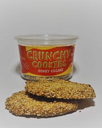honey sesame cookies in pet packaging 175g